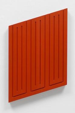 Donal Judd Untitled, July 1968. acrylic on wood,52.7 cm x 42.5 cm x 5.1 cm