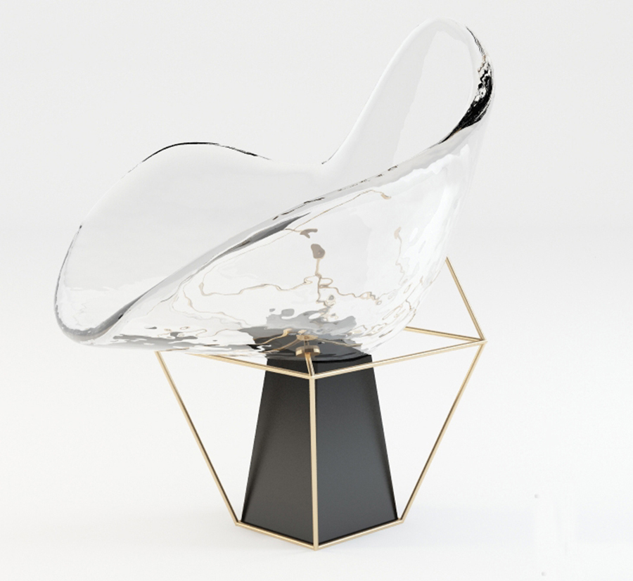 ILo.01-Lounge-Chair-Water-ripple-frozen-in-time-