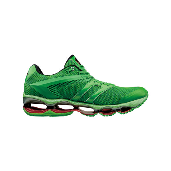 AUTOMOBILI LAMBORGHINI BY MIZUNO WAVE TENJIN RUNNING SHOES GREEN